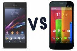 Sony Xperia Z1 Compact и Motorola Moto G: в чем разница?