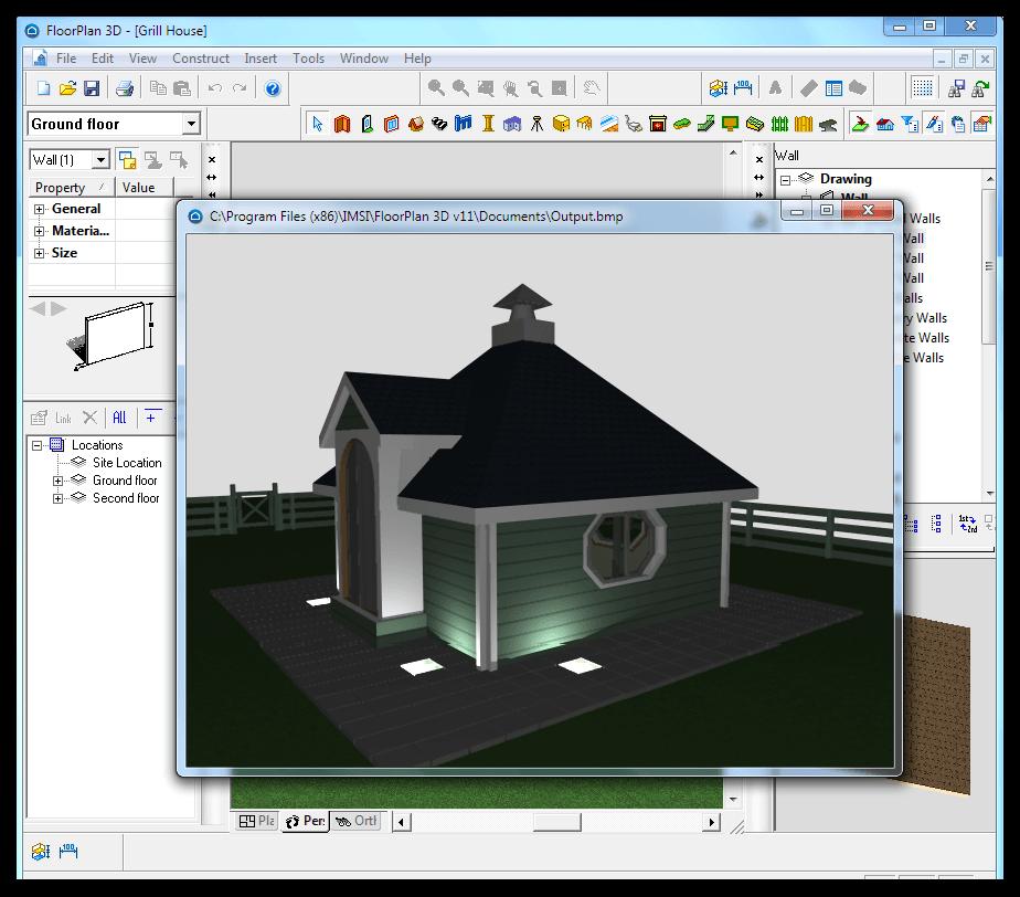 Floorplan 3d v12 workingprogrammy for Punch professional home design suite platinum v12