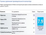 Как вернуть индекс производительности в Windows 8.1