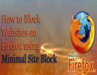 Minimal Site Block — простой блокировщик сайтов для Firefox