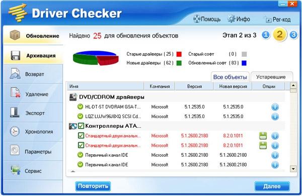 обновления драйверов Driver Checker
