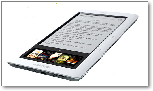 Новая читалка Nook с подсветкой экрана