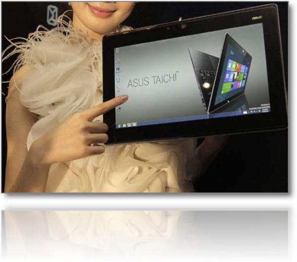 Компания Asus продемонстрировала планшет-трансформер под названием Transformer Book