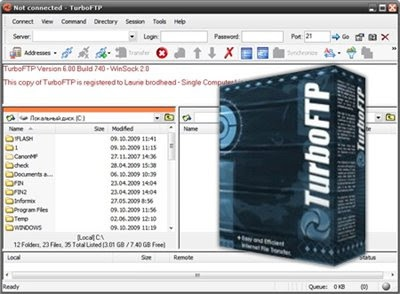 Обзор FTP-менеджера TurboFTP