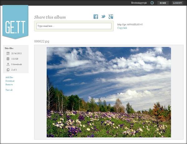 Облачный онлайн-сервис для быстрого обмена файлами GE.TT