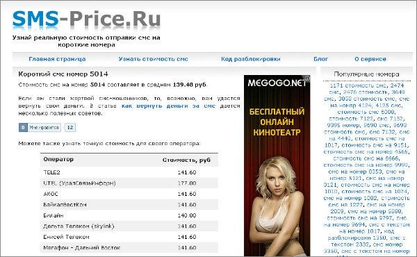 Полезные сервисы Рунета. Как узнать реальную стоимость sms