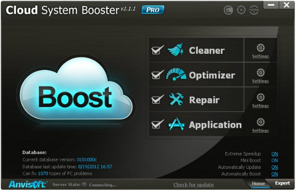 """Программа Cloud System Booster. Новый """"облачный"""" оптимизатор операционной системы"""
