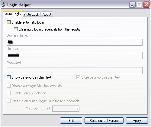 Login Helper – автоматический вход в Windows