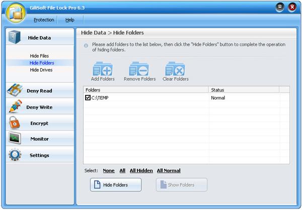 Скрыть папку или файл. Обзор программы GiliSoft File Lock Pro 6.3