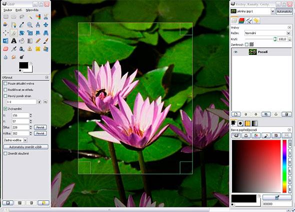 открыть файл PSD - GIMP