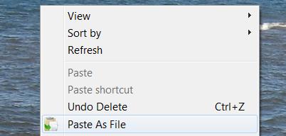 PasteAsFile: сохранение изображений и текста в любую папку Windows прямо из буфера обмена