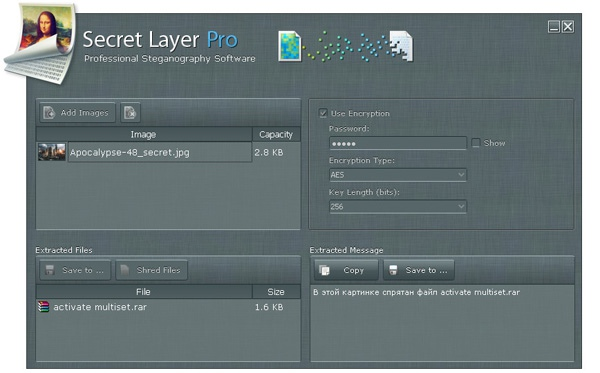 Прячем файлы в картинках. Обзор программы Secret Layer Pro