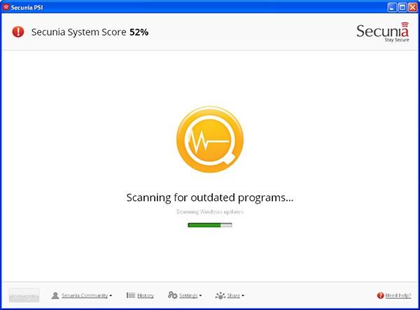 Personal Software Inspector. Сканер поиска уязвимостей