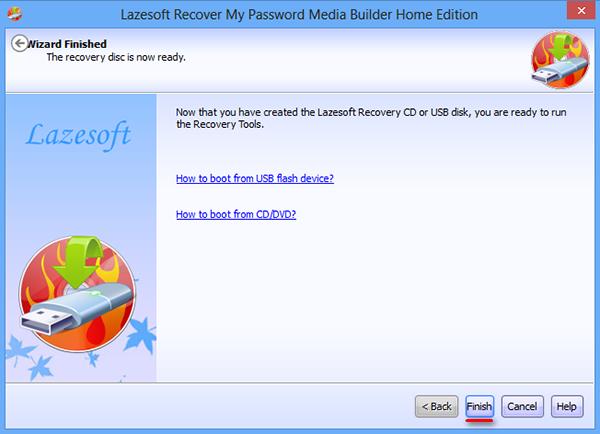 Восстановление пароля Windows 8 с помощью Lazesoft Recover My Password