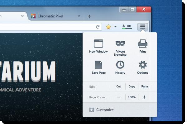 В Firefox появится настраиваемое главное меню