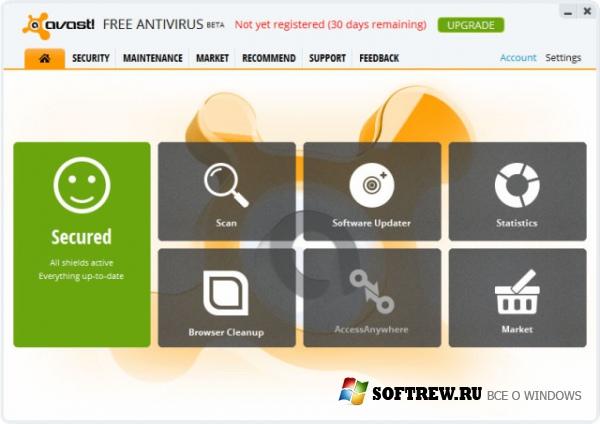 Настройки Avast 8 Free, на которые стоит обратить внимание