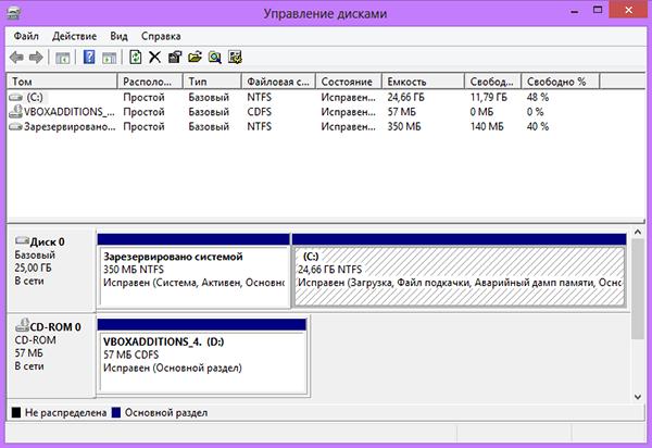 Как в Windows 8 разбить жесткий диск