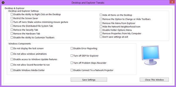 8Smoker Pro 1.0 – настройка Windows 8