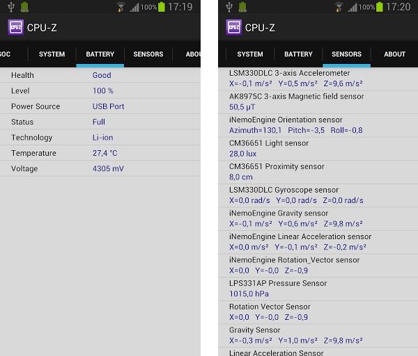 Программа для Андроид CPU-Z