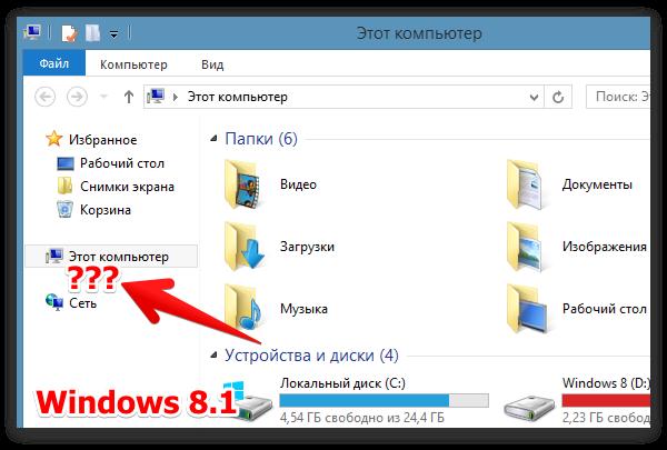 Библиотеки в Windows 8.1