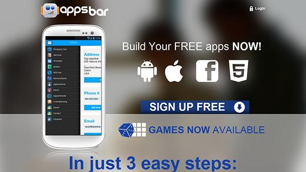 Appsbar создание бесплатных приложений