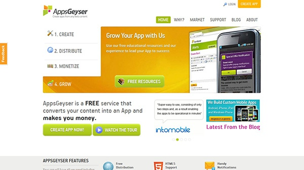 онлайн сервис AppsGeyser