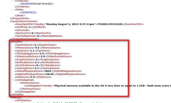 Как просмотреть индекс производительности в Windows 8.1