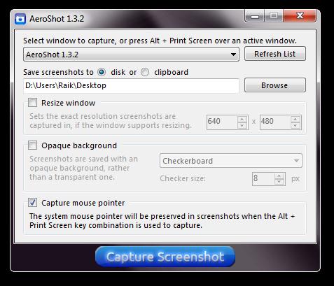 AeroShot: профессиональные скриншоты Windows Aero