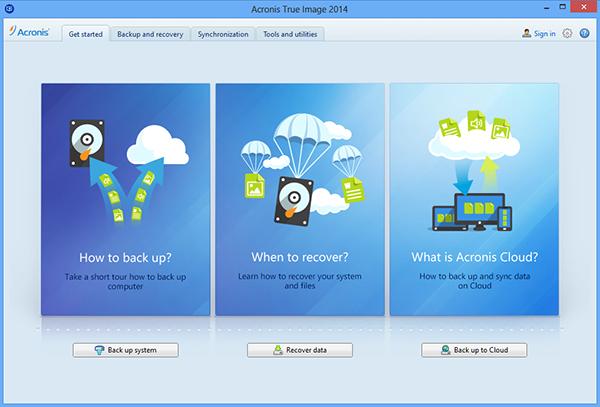 Acronis True Image 2014. Резервирование и восстановление из облака