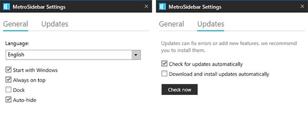 """MetroSidebar. """"Живая"""" панель для Windows 8"""