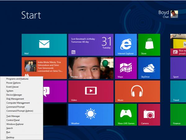 Редактируем меню Win + X в Windows 8