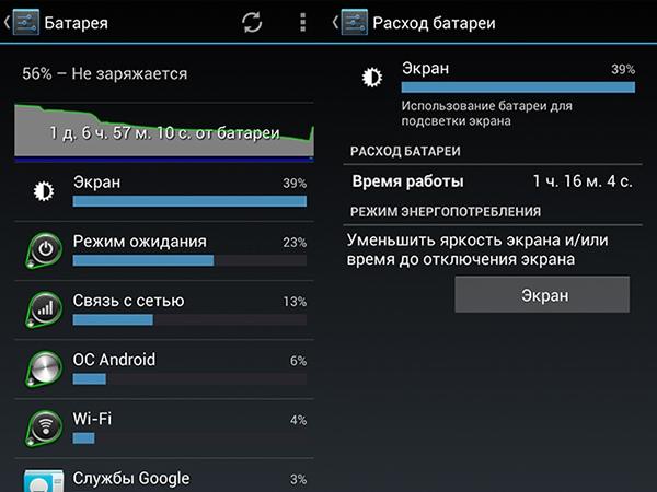 Настройки энергосбережения на Android