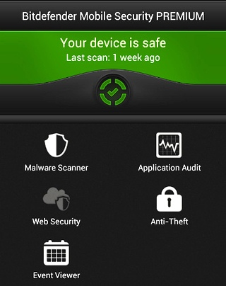 Лучшие продукты безопасности 2013 года-BitDefender Mobile Security