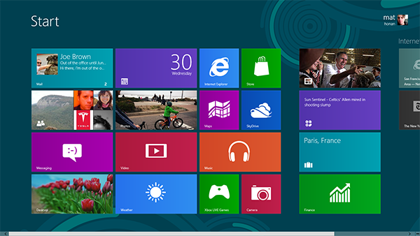 популярная Windows 8