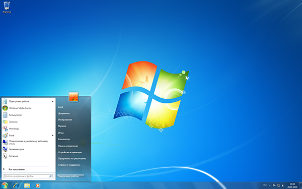 популярная Windows 7