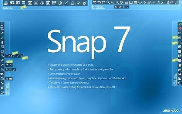 Ashampoo Snap снятие скриншотов
