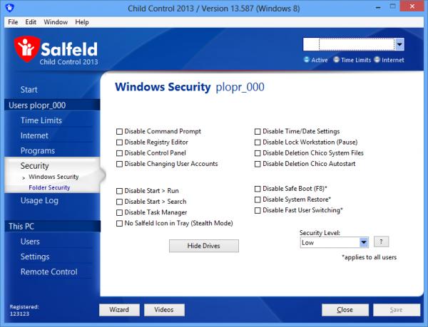 Лучшие продукты безопасности 2013 года-Salfeld Child Control