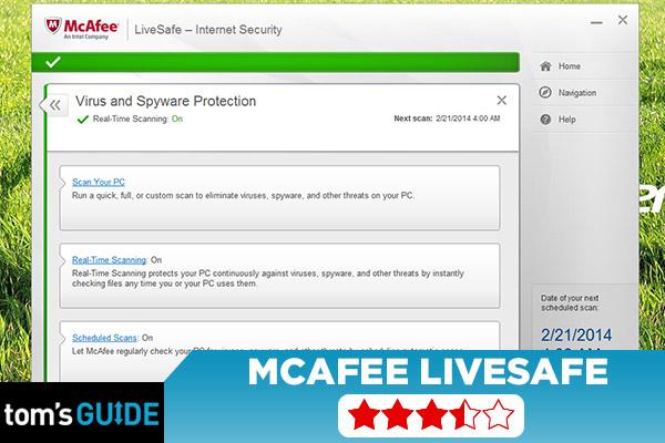 удобство и простота в McAfee LiveSafe
