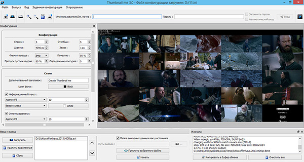 Cоздания превью к видеофайлам — программа Thumbnail me