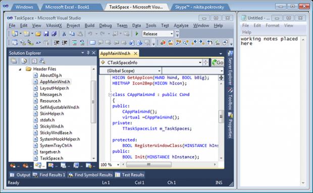 TaskSpace — утилита для объединения десктопных приложений в одно окно