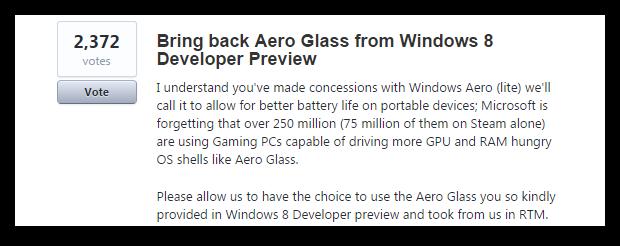 Результаты опроса о Windows Aero и новое голосование