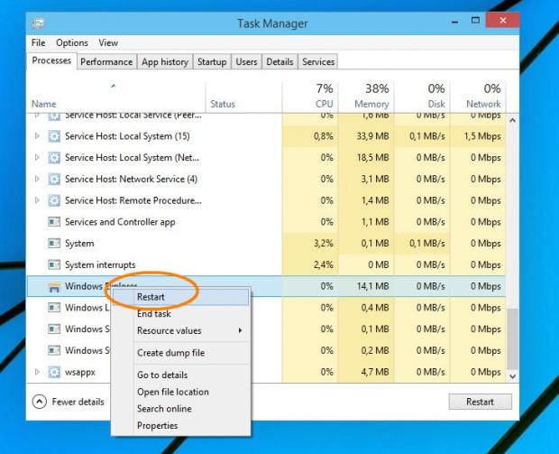 Секретные функции выхода из Проводника в Windows 10