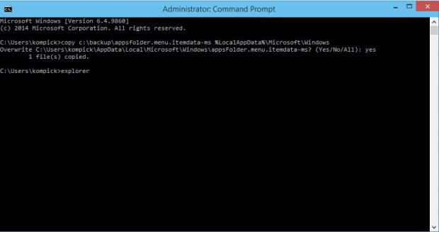 Как в Windows 10 создать резервную копию настроек меню Пуск