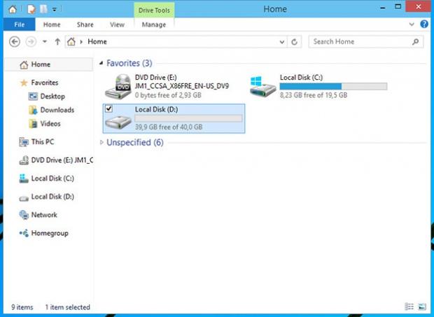 Как в папке Home Windows 10 отобразить разделы жесткого диска
