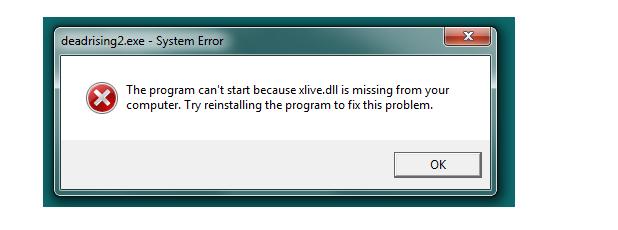 Устранение ошибки, связанной с файлом xlive.dll