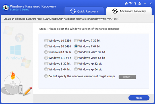 Windows Password Recovery: утилита для сброса пароля учетной записи Windows