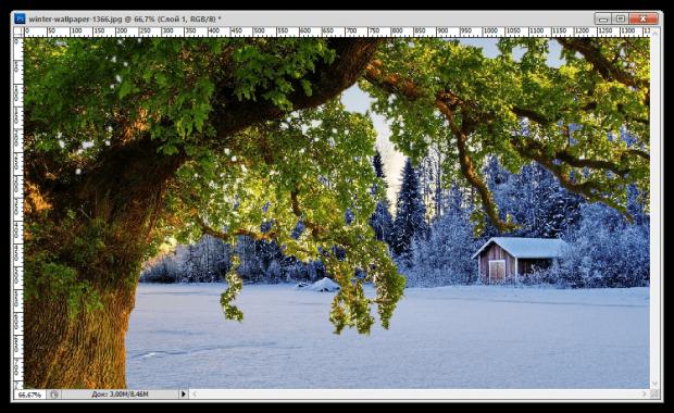 Как в Adobe Photoshop вырезать изображение и наложить его на другое
