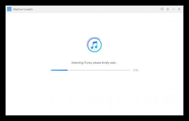 Сканирование iTunes при запуске программы iMyFone TunesFix