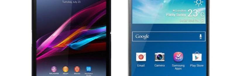 Samsung Galaxy Note 3 против Sony Xperia Z Ultra