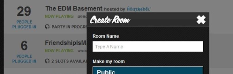 Plug.dj: создавайте отдельные комнаты с музыкой и слушайте песни совместно с друзьями